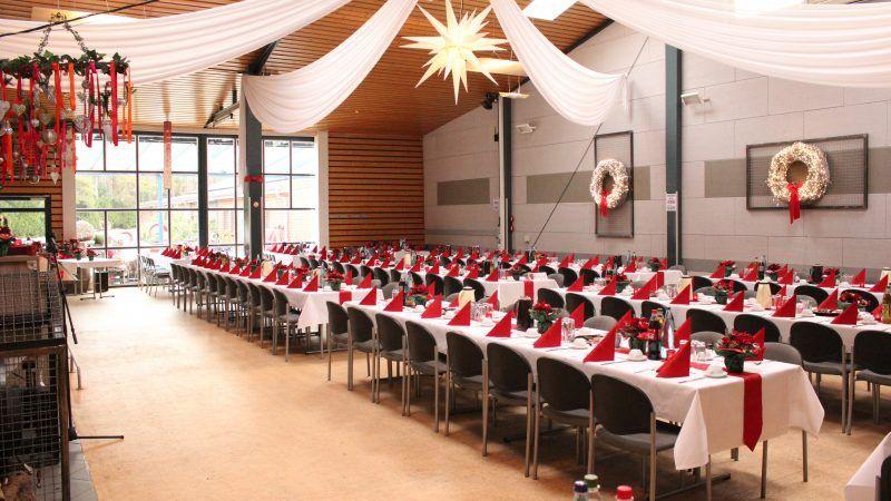 Weihnachtsfeiern in der Partyscheune
